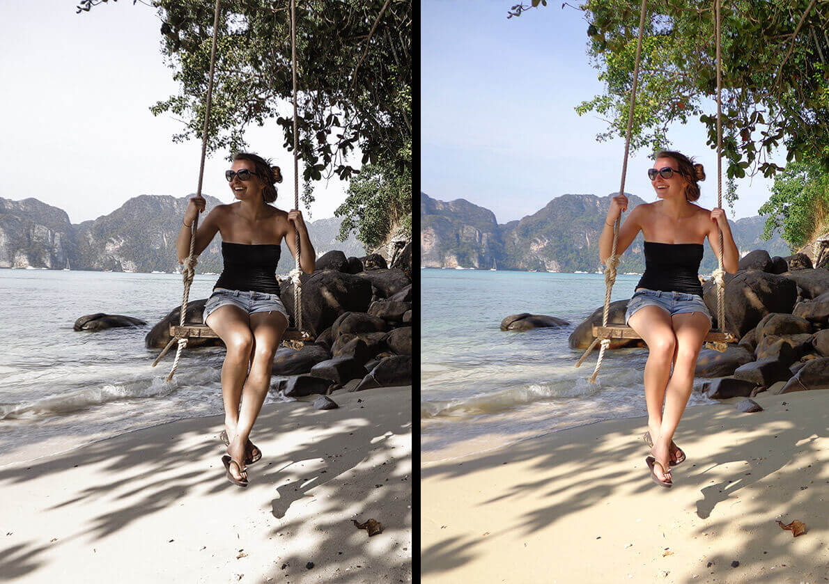 Lightroom before after