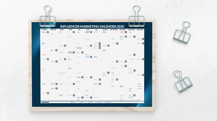 influencer marketing kalender 2020